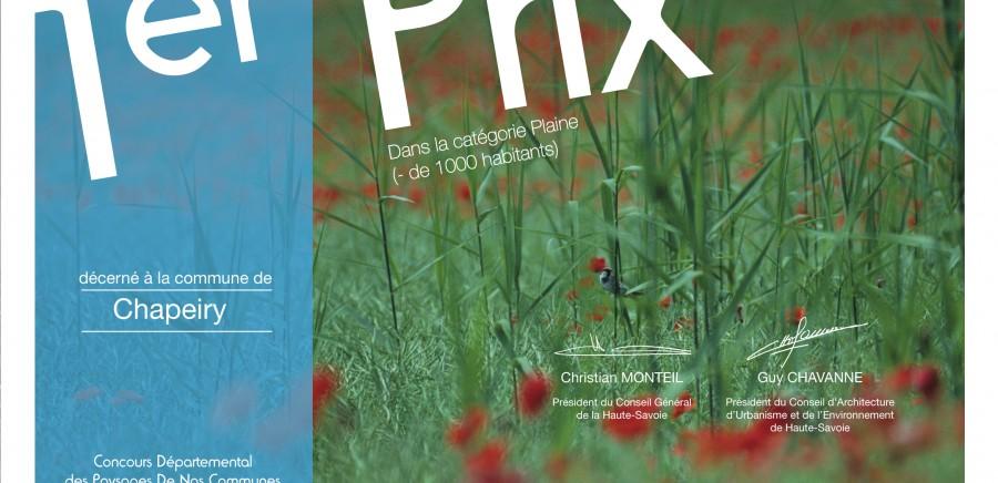 1er Prix Plaine (Chapeiry) - de 1000 hab